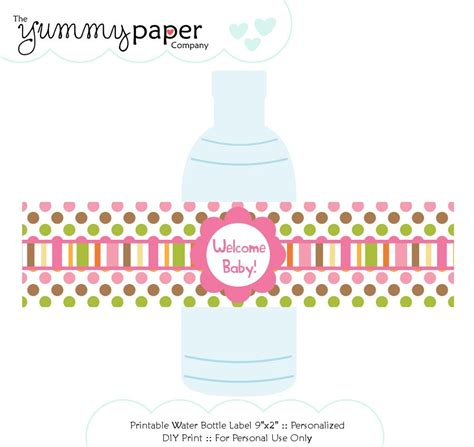baby shower bottle labels template printable water bottle labels baby shower