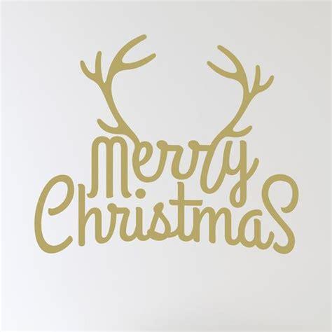merry christmas antlers wall sticker wallstickerscouk