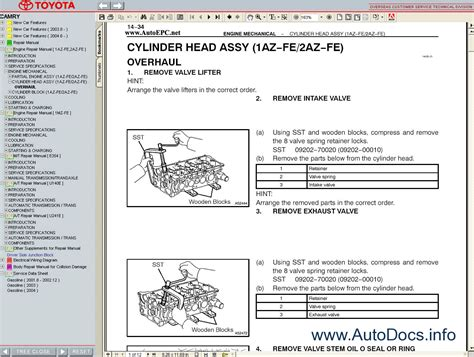 small engine repair manuals free download 2006 toyota corolla on board diagnostic system toyota camry 2001 2006 service manual repair manual order download
