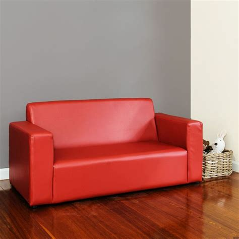 kids leather couch kids pvc leather 2 seater sofa couch in red buy kids sofas