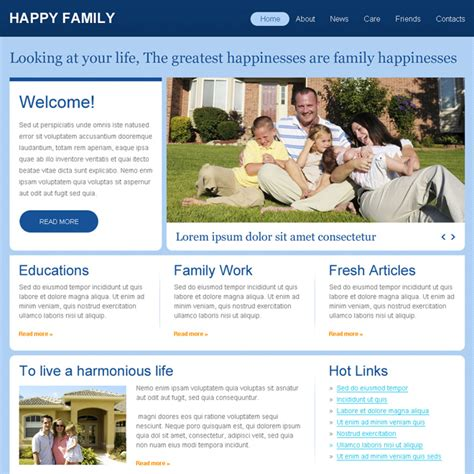 Affordable Family Website Template Psd For Sale Cheap Web Page Templates