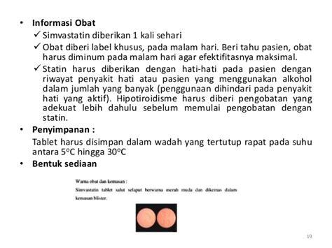 Obat Simvastatin konseling hipertensi