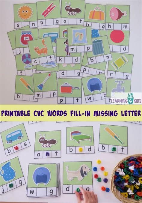 printable missing word games printable cvc words bundle activity pack activities the