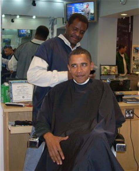 Haircuts Hyde Park Chicago | presidential haircut behind the barber