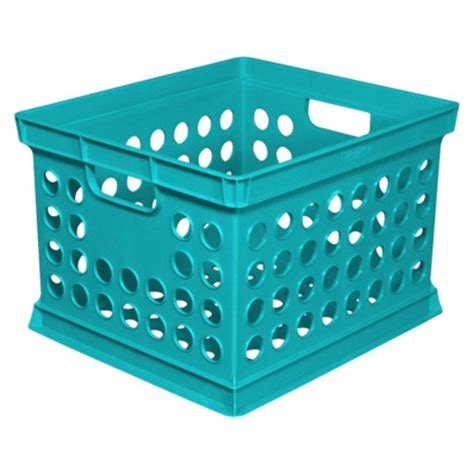 target crates sterilite milk crate turquoise from target