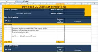 qc template qc check list template xls excel xls templates