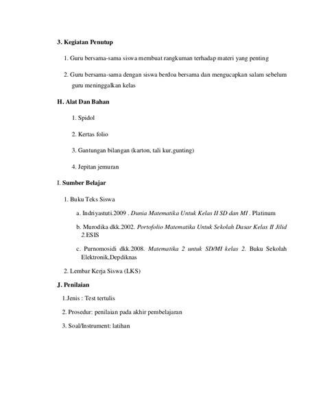 dunia matematika contoh tugas rpp matematika