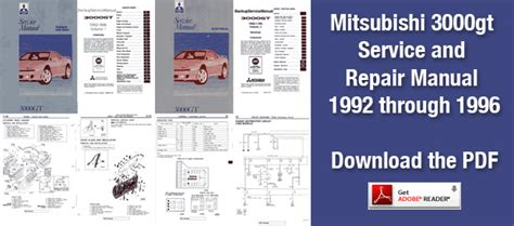 car maintenance manuals 1993 mitsubishi 3000gt auto manual 3000 gt and dodge stealth service and repair manuals mitsubishi 3000gt vr4 modifications
