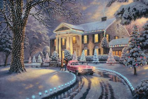 graceland christmas the thomas kinkade company