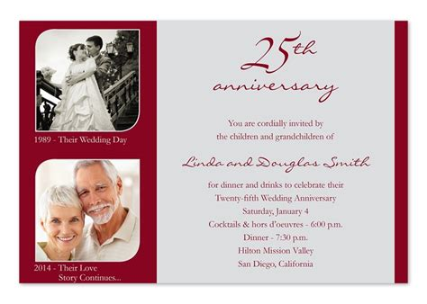 invitation card for 25th marriage anniversary in 25th wedding anniversary invitation cards a birthday cake