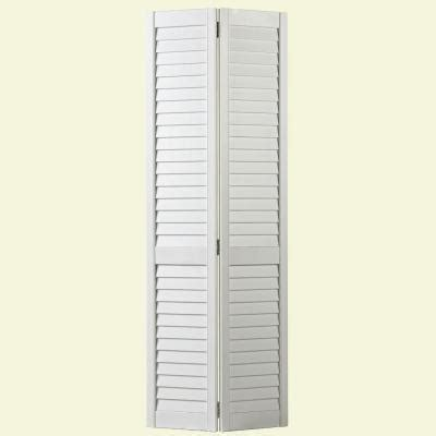 home depot louvered doors interior masonite 30 in x 80 in plantation louver painted pine interior closet bi fold door 25444