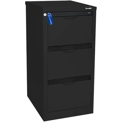 Europlan Filing Cabinet Europlan 505w Forte Filing Cabinet 3 Drawer Matt Black Officemax Nz