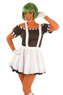 ladies chocolate factory worker fancy dress costume and