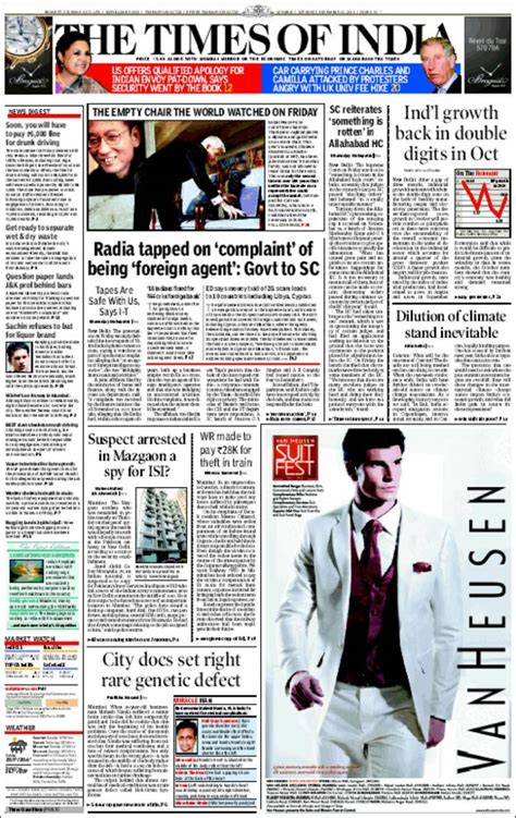editorial section of times of india newspaper the times of india india front pages from