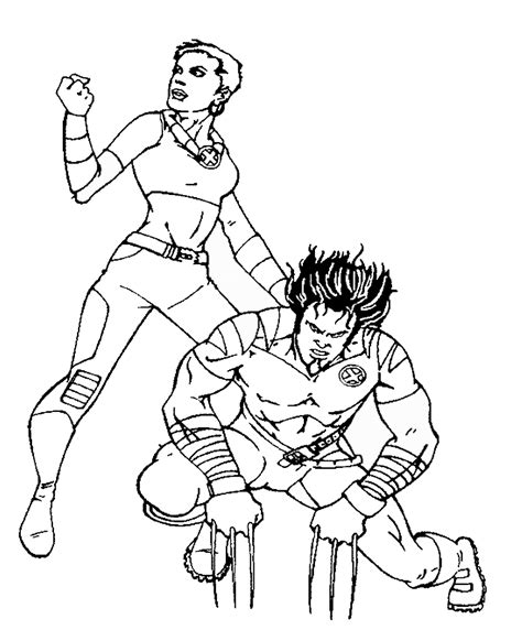 wolverine    men coloring pages