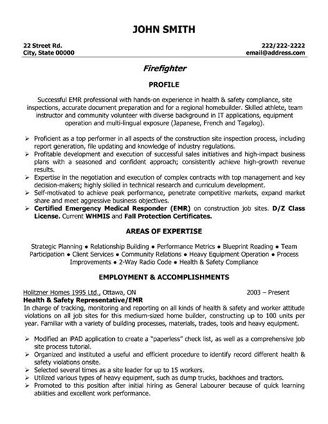click here to this firefighter resume template