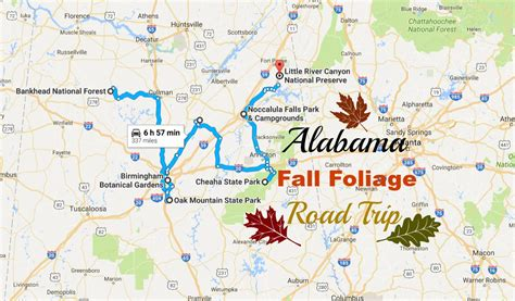 maryland foliage map 2016 alabama fall foliage road trip