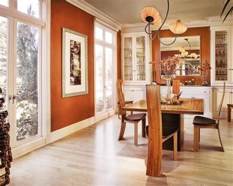burnt orange dining room great color a similar choice is reynard 6348 by sherwin williams it is sherwin williams