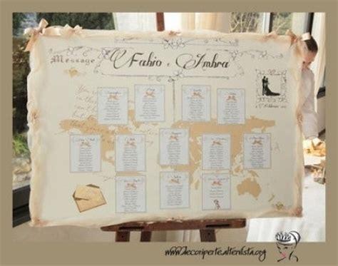 tabellone tavoli matrimonio tableau tema viaggio consigli fai da te forum