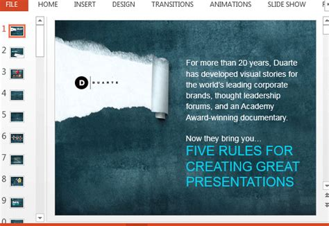 Powerpoint Layout Rules   duartes 5 rules powerpoint template