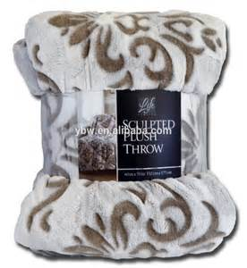 Life Comfort Sculpted Plush Flannel Fleece Throw Blanket