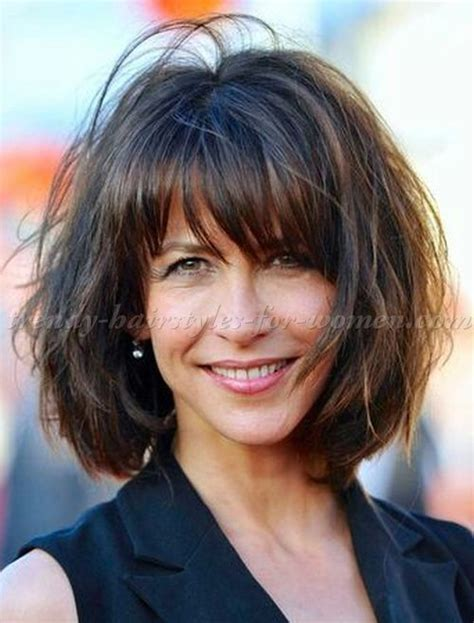 Hairstyles For 50 With Bangs And Hair by Hairstyles 50 Marceau Bob Hairstyle