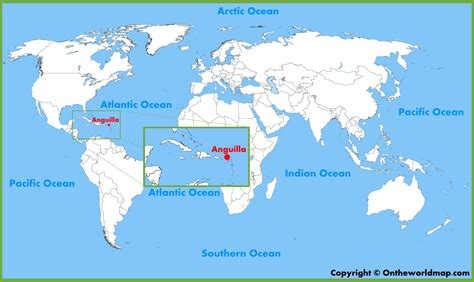 anguilla map anguilla location on the world map