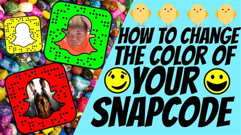 snapchat color codes how to change your snapcode color snapchat tricks