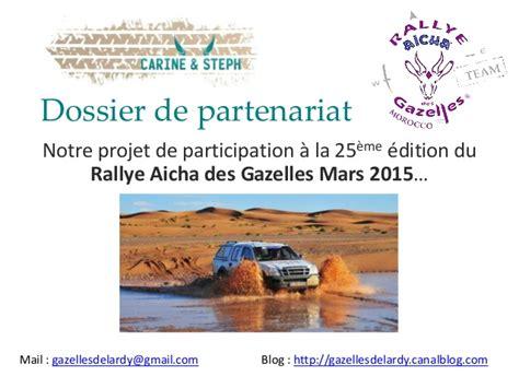 Lettre De Présentation Gouvernement Fédéral Dossier Sponsor Gazelles De Lardy Rallye Des Gazelles 2015