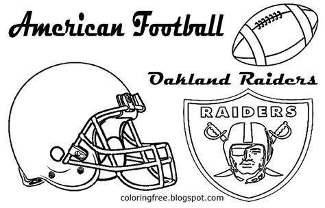 oakland raiders field pages coloring pages