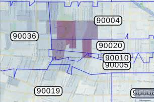 los angeles california zip code map most expensive zip codes for auto insurance include 90020
