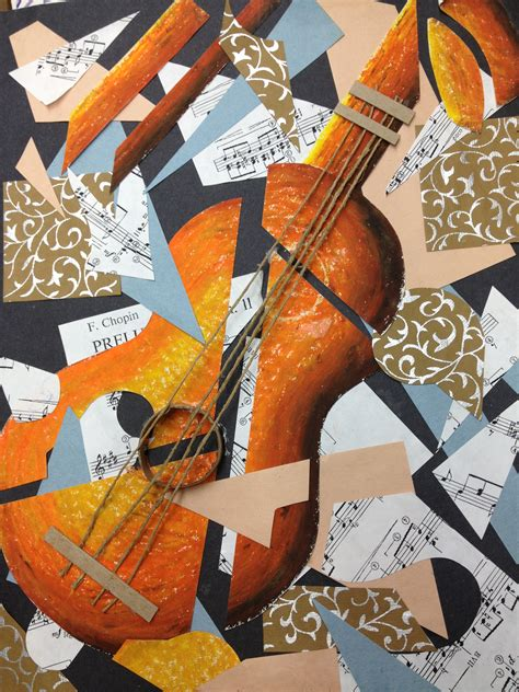 Picasso Cubism Guitar Picasso Guitar Cubist Collage And