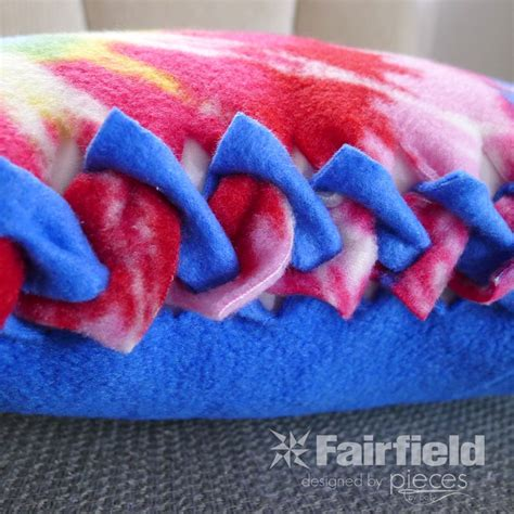 Fleece Blankets No Sew by No Sew Braided Edge Fleece Pillow Fairfield World