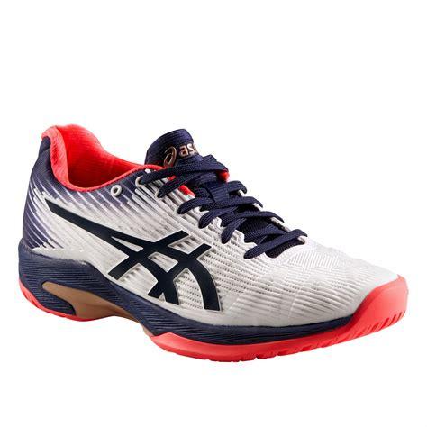 asics tennisschoenen voor dames asics gel solution speed witblauw decathlonnl