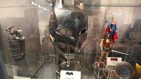 Voice Changer Batman Armor Helmet batman vs superman images from comic con collider