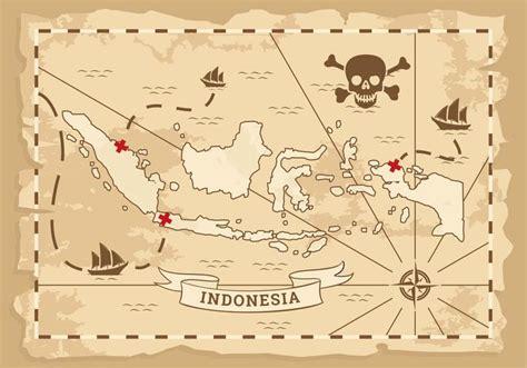 indonesia ancient map vector   vectors