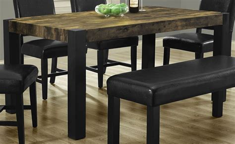 distressed black dining table from monarch 1620