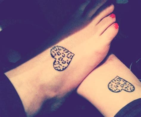 best friend heart tattoos designs friendship on