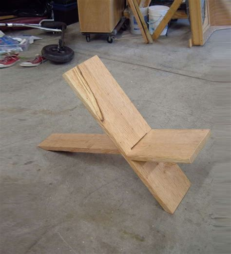 diy construction projects 2 boards 1 seat simple diy two plank chair construction
