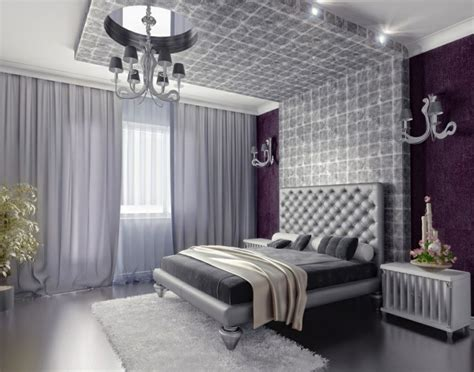Purple Bedroom L Shades by 20 Beautiful Purple Accent Wall Ideas