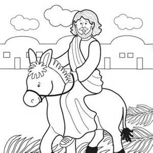 palm sunday coloring page easter lapbook part 1