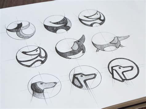 logo sketch study tubik studio designing logo tubik studio