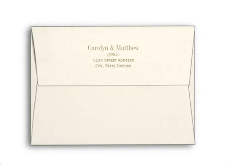 mail envelope template 5 215 7 envelope template 13 free printable sle