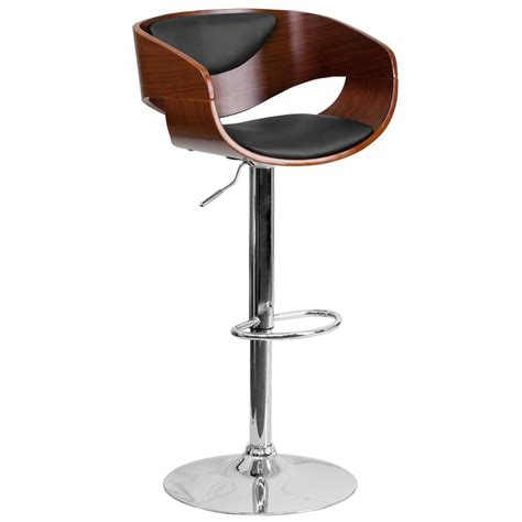 bar stools chrome flash furniture adjustable height chrome cushioned bar