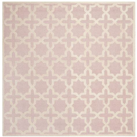 Square Wool Rugs by Safavieh Cambridge Light Pink Ivory 8 Ft X 8 Ft Square