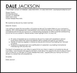 Cover Letter For Substance Abuse Counselor substance abuse counselor cover letter sle livecareer