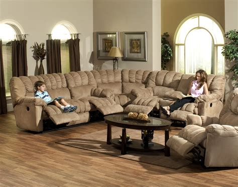 catnapper sectionals cuddler 3 piece saddle suede cloth sectional by catnapper
