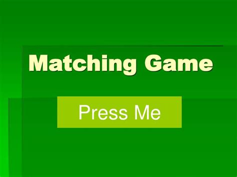 Ppt Matching Game Powerpoint Presentation Id 971226 How To Make A Matching On Powerpoint