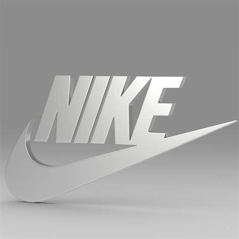imagenes nike en 3d nike logo 3d model buy nike logo 3d model flatpyramid
