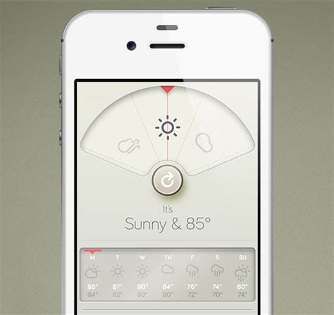 designspiration app iphone weather app inspired by braun 187 iso50 blog the blog of